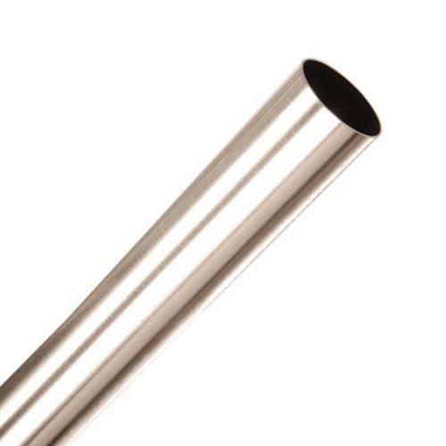 Speedy Poles Apart 28mm Eyelet Curtain Pole, Satin Silver, 150 Cm