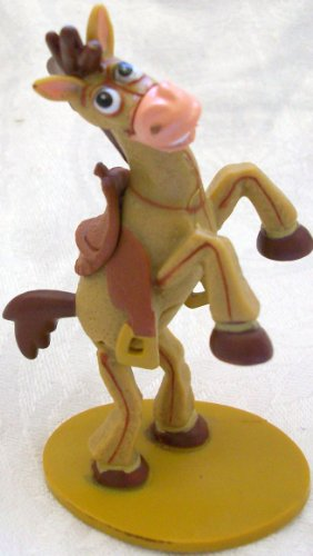 "Disney Toy Story 3, Woody's Bullseye, 3.5"" Pvc Doll Figure Toy, Cake Topper"