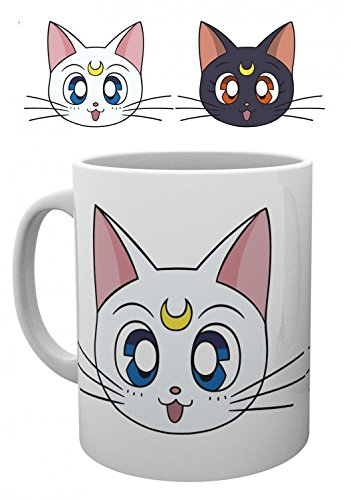 Set: Sailor Moon, Luna & Artemis Tazza Da Caffè Mug (9x8 cm) e 1 Sticker sorpresa 1art1®