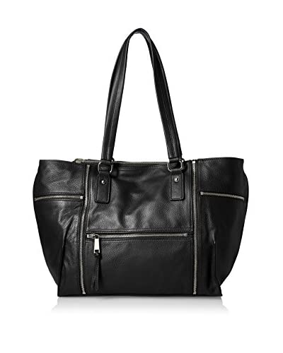 French Connection Women's Kacee Leather Tote, Black