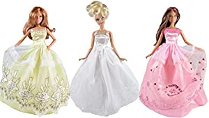 Dresses for Barbie - The Royal Wedding Collection (3 Dress Set) DOLLS NOT INCLUDED