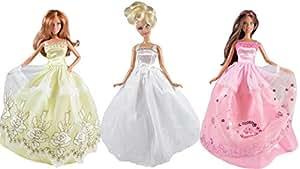 Robes de mariée: Cendrillon (ensemble de 3 robes) POUPÉES NON INCLUSES