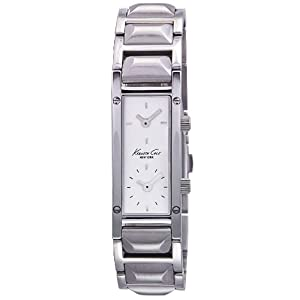 Kenneth Cole New York Womens KC4706 Analog Dual Time Silver Dial Watch