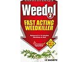 Weedol 2 Fast Actin Weedkiller 3 Sachets