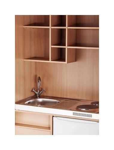 Schrankküche büro  MEBASA MK0009S Büro-Küche Schrankküche Buche 100 cm mit ...