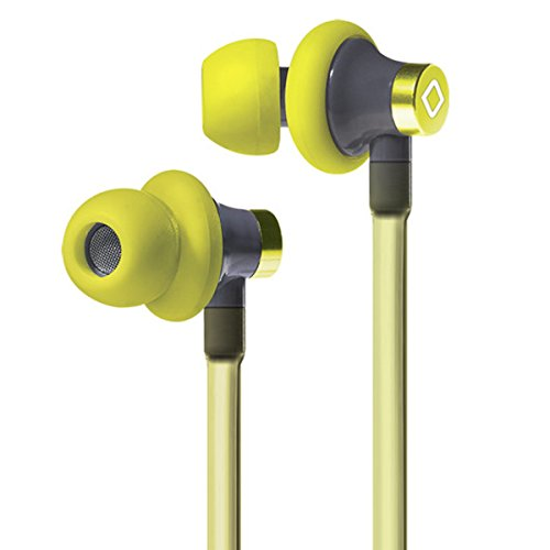 Aircom A3 Active Yellow Anti-Radiation 3.5mm Jack Smartphone In-Ear Earpieces Headset with Matt Air Duct Tube Earphones - US Patent # 6453044 (Duct Jack compare prices)