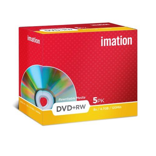 Imation - 5 x DVD RW - 4.7 Go 8x