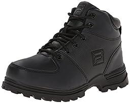 Fila Ascender 2 Hiking Shoe (Little Kid/Big Kid), Black/Black/Dark Silver, 2 M US Little Kid