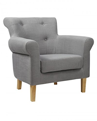 Pittsburgh Fabric Slate Grey Armchair