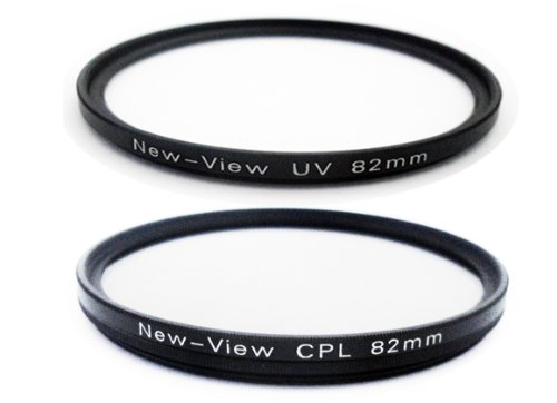 New View 82mm C-PL+UV 2 Piece Filters Kit High transmittance Ultra-thin frame For Canon EF 24-70mm f/2.8L II USM lens etc.