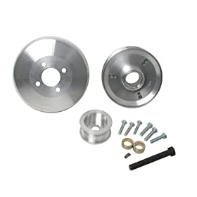 BBK 15550 Aluminum 8-Rib Underdrive Pulley Kit for Ford F-Series/Expedition 4.6L/5.4L - 3 Piece