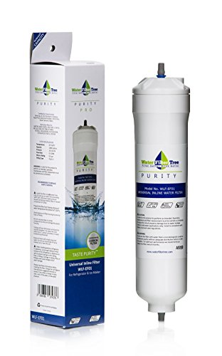 Waterfilter Tree WLF-EF01 Universal Inline Filter for refrigerator, ice maker and under sink - Single Pack (1) (Inline Ice Maker Water Filter compare prices)