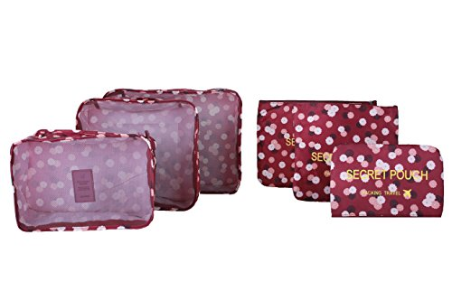 6pcs-set-waterproof-clothes-storage-bags-packing-cube-travel-luggage-organizer-bag