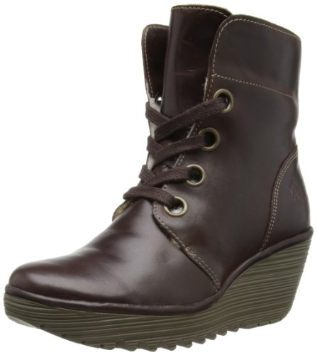 Fly London Womens Yel Warm Boots P500352001 Dark Brown 7 UK, 40 EU