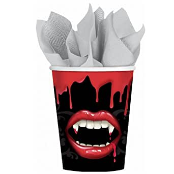 Amscan Mens Fangtastic Halloween 9 oz. Paper Cups (18 count)