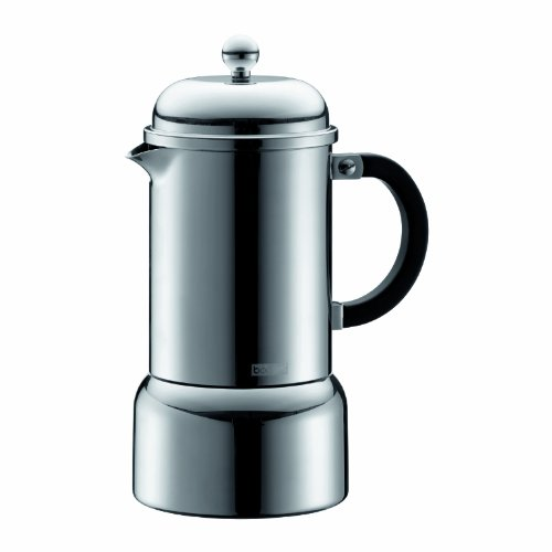 Bodum Pour Over Coffee Maker Directions : Bodum Chambord Matte Finish Stainless Steel Stovetop Espresso Maker, 12-Ounce, Chrome www ...