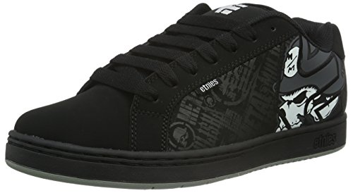 Etnies Men's Metal Mulisha Fader Skateboarding Shoe, Black/Skulls, 12 M US