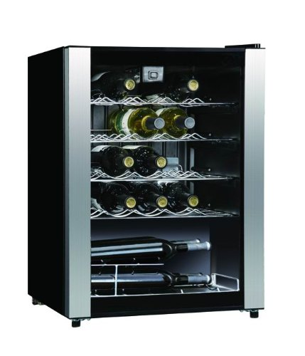 Midea Whs-90W 23-Bottle Wine Cooler, Stainless Steel