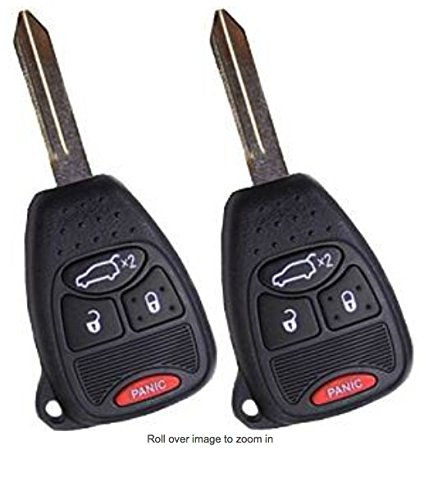 New Pair (2) Replacement Remote Head Ignition Key Keyless Entry Combo Compatible with OHT692427AA Includes Duracell Battery Inside