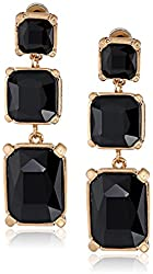 Kenneth Cole New York Square Faceted Bead Triple Drop Earrings