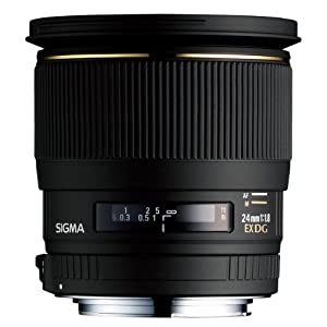 Sigma 24mm f/1.8 EX DG Aspherical Macro Large Aperture Wide Angle Lens for Canon SLR Cameras