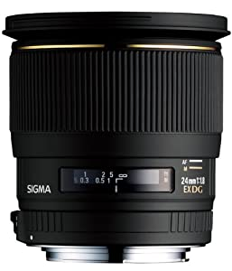 Sigma 24mm f/1.8 EX DG Aspherical Macro Large Aperture Wide Angle Lens for Canon SLR Cameras (OLD MODEL)