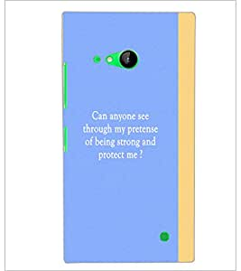 PrintDhaba Quote D-4444 Back Case Cover for NOKIA LUMIA 730 (Multi-Coloured)