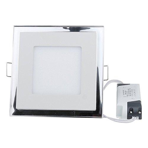 Sunsbell Led Acrylic Panel Light, Ceiling Light Square ,Meeting Room Lamp Downlight Spotlight Lamp Recessed Lighting Fixture Lamp Warm White (15W)