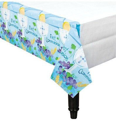 First Communion Blue Paper 54in X 102n Table Cover - 1