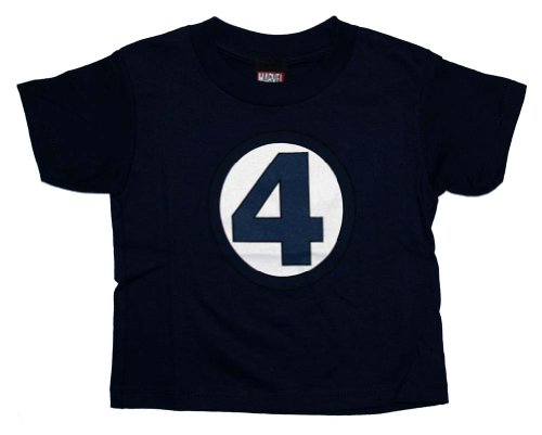  : Fantastic Four Logo Marvel Comics Costume Uniform Baby Toddler T-Shirt Tee