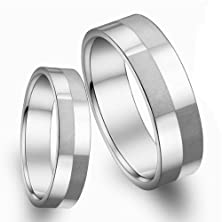 buy Fate Love Ture Love Waits Ring Stainless Steel Frosted Block Chart Couples Promise Ring Wedding Bands
