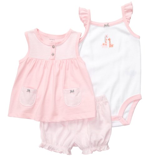 Carter'S Diaper Cover Set - Light Pink Stripe-6 Months front-1042050