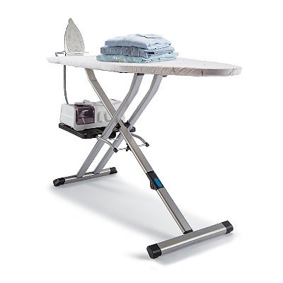 Rowenta IB9100 Pro Compact Professional Folding Ironing Board with Hanger Racks, 18-Inch by 54-Inch, Beige