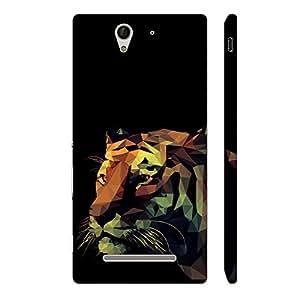 Enthopia Designer Hardshell Case 3D Tiger Back Cover for Sony Xperia C3