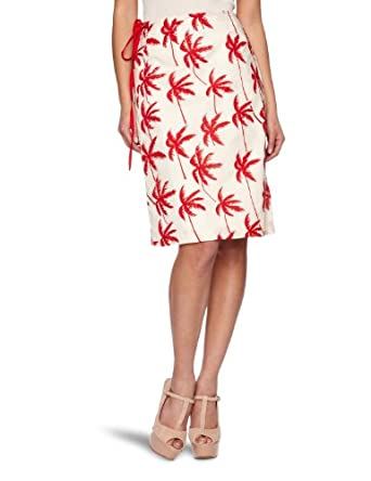 Fever La Jolla Women's Wrap Skirt Red 10