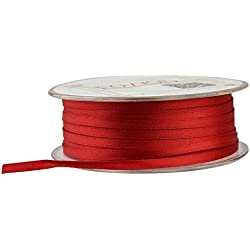 Fowod Double Faced Satin Ribbon, 54 Yard / 164 Feet, 1/8 Inch Wide, Red