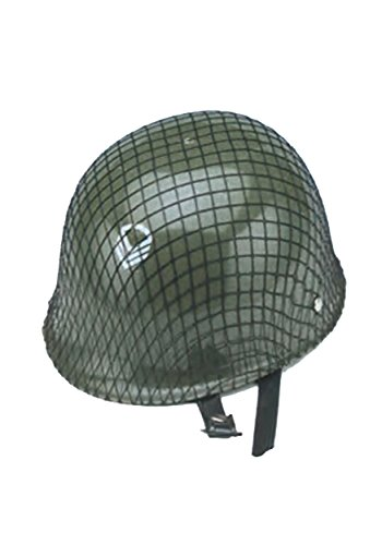 Jacobson Hat Company Men'S Child'S Plastic Netted Army Helmet, Green, Child