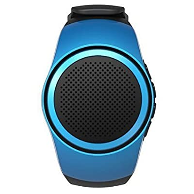 LXS Multifunctional Bluetooth Speaker Watch ( Convenient and Portable Sports Watch Design )MP3 Music Player + Radio + Anti lost + Hands-free Calls , Color: Blue from LXS