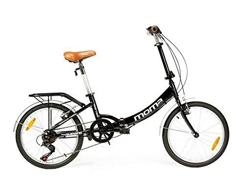 """Moma - Bicicletta pieghevole, ruote da 20"""" SHIMANO. Alluminio, con borsa da trasporto"""