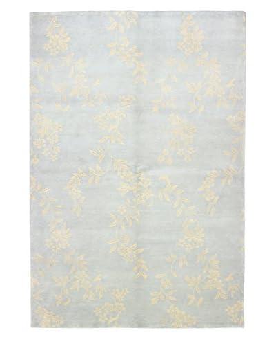 Bashian Hand Knotted Karna Rug, Blue, 6' 1 x 8' 10
