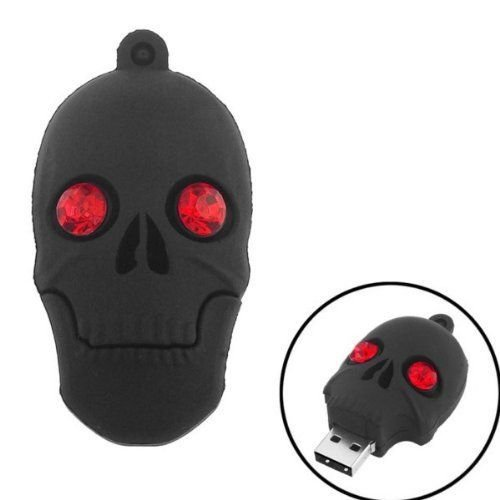 Quace 32 GB Black Skull Shaped Fancy USB Pen Drive