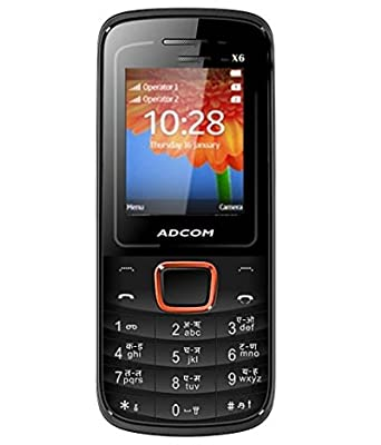 ADCOM X6 FREEDOM DUAL SIM MOBILE-BLACK + ORANGE