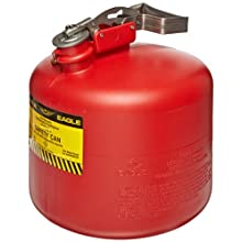 "Eagle 1537 Type I Safety Can, 12-1/2"" Width x 13"" Depth, 3 Gallon Capacity, Red"