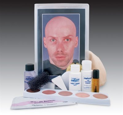 KMP-BC Mehron Bald Cap Make Up Kit