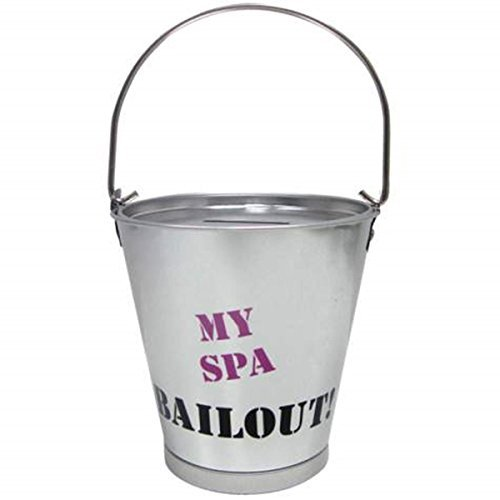 4.25 Inch Spa Bailout Aluminum Silver Bucket Savings Piggy Bank