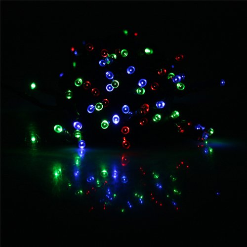 AGPtek® Solar-Powered 100 LED Christmas Party LED Lights Holiday String Lights for Indoor Outdoor Use (Multi-Color, 55 Feet)