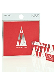 Geometric Tree Christmas Gift Card