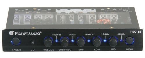 Planet Audio Peq15 5 Band Parametric Equalizer With Adjustable Center Frequencies On Each Band