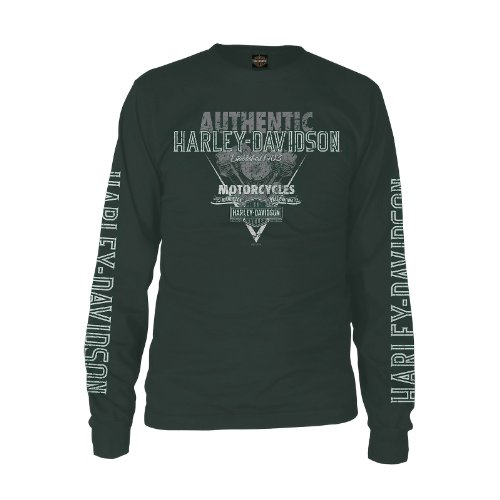 Harley-Davidson Kandahar Torque Long Sleeve T-Shirt Mens - L/Hunter Green