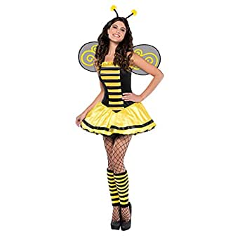 Adult Womens Sexy Buzzy Bumble Bee Halloween Fancy Dress Costume